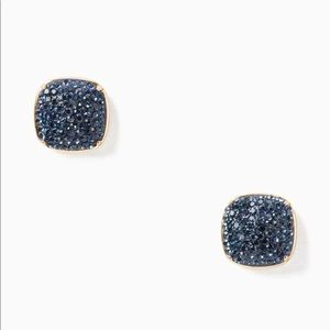Kate Spade Pavé Square Stud Earrings Montana Blue